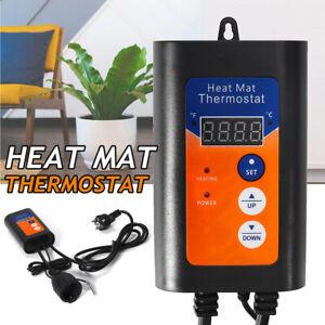Digital Heat Mat Thermostat Controller green Germination Reptiles &    L7