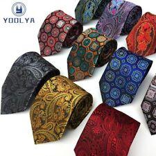 Luxury Men's Tie 8CM Floral Plaid Silk Necktie Neck Ties For Party Neckwear