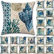 Square Ocean Animal Cotton Linen Pillow Covers Household Waist Throw Home Decor