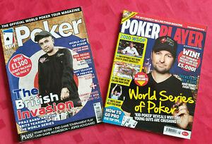 PAIR OF 2 MAGAZINES SWPT POKER & POKER PLAYER WSOP STARS  WPT SEASON 2010's