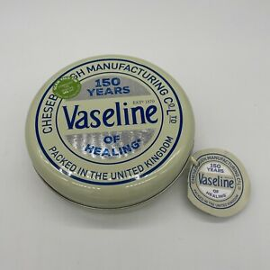 Vaseline 150 Years Gift Set Tin - Lip Therapy Cocoa Butter, Aloe Vera & Rosy