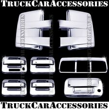 For FORD F150 2009-2014 Chrome Covers Tow Mirrors+4 Doors +Tailgate+Brake Light