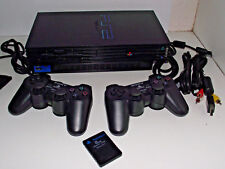 Black Fatboy PS2 Console + 2 x Dual Shock Controller PAL