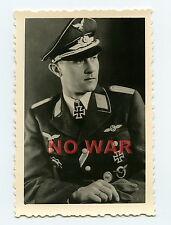 WWII AUTHENTIC PHOTO PORTRAIT Oberfeldwebel Viktor Petermann KNIGHT CROSS HOLDER
