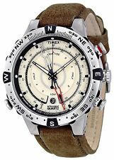 Timex Men's Intelligent Quartz Compass Tide Temp Silver Case Watch T2N721