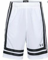 Under Armour Men's Basketball Shorts Size Large White/Black NWT