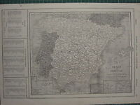 1926 MAP ~ SPAIN & PORTUGAL AZORES ISLANDS CANARY MADEIRA BALEARIC