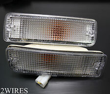 FOR 89-95 TOYOTA PICKUP / 90-91 4RUNNER CLEAR BUMPER PARKING SIGNAL LIGHTS PAIR
