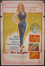 The Burglar (1957) Australian One Sheet JAYNE MANSFIELD
