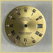 ROLEX OYSTER DATE 15037, 15238 ORIGINAL FACTORY DIAMOND DIAL CHAMPAGNE COLOR