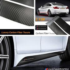 2.15M Carbon Fiber Texture Side Skirt Stickers Graphic Vinyl Waterproof 2pcs