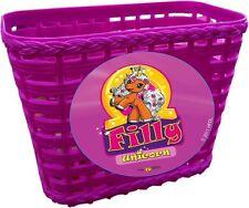 Filly Unicorn Handlebar Basket - Plastic Basket - Bike Basket NEW 817053