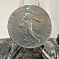 CIRCULATED 1960 1 FRANC FRENCH COIN (72019)1.....FREE DOMESTIC SHIPPING!!!!!