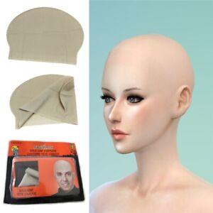 Adult Unisex Reusable Latex Skinhead Bald Cap Wig Halloween Party Props Supplies
