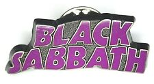BLACK SABBATH Official 2007 Logo Shaped Metal Pin Badge Purple(not patch shirt)
