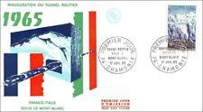 FRANCE - Tunnel Routier sous le Mont-Blanc- France-Italie - CHAMONIX  1965 - FDC