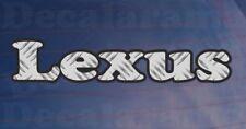 LEXUS Chequer Plate Effect Car/Bumper/Window Novelty Printed Vinyl Sticker
