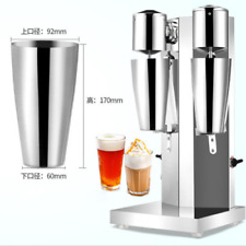 Commercial Stainless Steel Milk Shake Machine Double Head Drink Mixer 220V