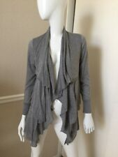 Sweet Pea Stacy Frati NEW! Heather Gray Rayon Knit Tiered Flowy Cardigan M NWOT!