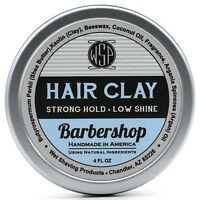 Hair Clay (Barbershop) 4 oz Natural Wax Based Pomade by WSP Natural & Vegetarian