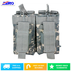 Digital Double Rifle & Double Stack Pistol M9 Magazine Pouch Bungee MOLLE PALS