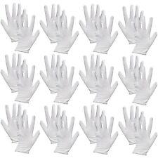 12 Pairs Cotton White Gloves General Purpose Moisturising Lining Gloves,ONE SIZE