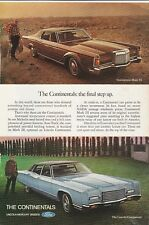 Original 1971 Lincoln Continental Magazine Ad  - The Final Step Up