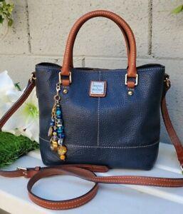Dooney & Bourke MINI CHELSEA Pebble Crossbody NAVY BLUE purse satchel handbag