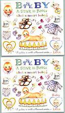 Susan Branch BABY Scrapbook Stickers 2 Sheets