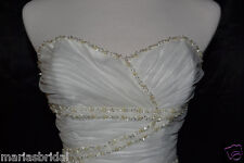 Organza over Satin Maggie Sottero Lana Gown Dress sz 8