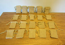 "20 BURLAP JUTE SACKS WITH DRAWSTRINGS 3"" BY 5"" WEDDING PARTY FAVOR BAGS GIFT BAG"