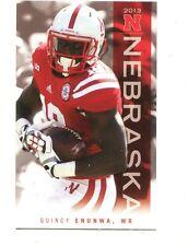 2013 Nebraska Cornhuskers Football pocket Schedule Quincy Enunwa