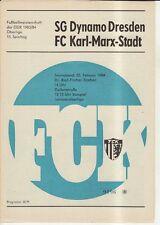 OL 83/84 FC Karl-Marx-Stadt - SG Dynamo Dresden