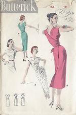 "1950s Vintage Sewing Pattern DRESS B34"" (R23)"