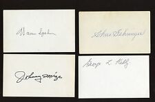 Baseball Hall of Famers Autographed Index Cards 25 Different Hologram