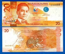 Philippines P-206 20 Piso Year 2016 Uncirculated Banknote