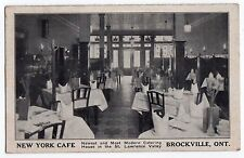 1930s BROCKVILLE ONTARIO CANADA New York Cafe ADVERTISING Card ST LAWRENCE