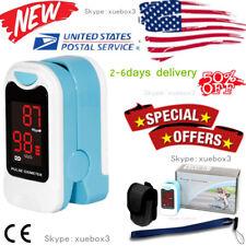 Portable Finger fingertip pulse oximeter heart rate spo2 pr Sensor,pouch,lanyard