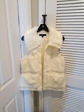 Rachel Zoe Luxe Off White Size Small Faux Fur Vest!