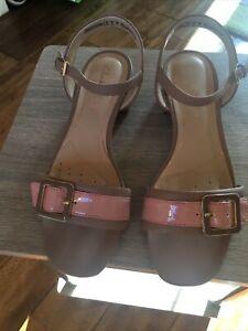 Ladies Beige Clarks Sandals Size 5D