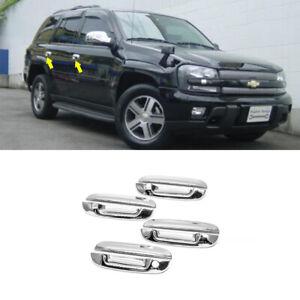 Chrome Door Handle Covers Fit 2002 2003 2004 2005-2009 Chevrolet Trailblazer