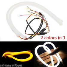 Waterproof White Amber Switchback Headlight LED Strip DRL Light Tube Style 60cm
