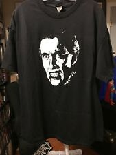 DRACULA CHRISTOPHER LEE SHIRT 2 SIDED TEE OFFICIAL 2005 HAMMER HORROR HALLOWEEN