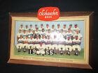 Schaefer Beer 1955 World Champion Brooklyn Dodgers Die Cut 3D Advertising Sign