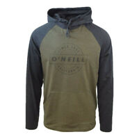 O'Neill Men's Two Tone Charcoal & Army Green L/S Lightweight Hoodie