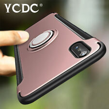 Rotating Ring Stand Magnetic Base Full Body Back Case For iPhone 5/6/7/8/X E1A1