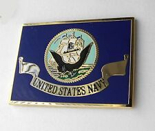 USN UNITED STATES US NAVY LARGE FLAG LAPEL PIN BADGE 1.5 INCHES