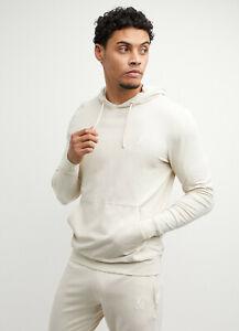 Gym King Mens Stone Hooded Designer Lounge Lightweight Jersey Hoodie Hood New