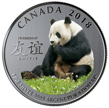 2018 - $8 - Pure Silver Coin - The Peaceful Panda, a Gift of Friendship