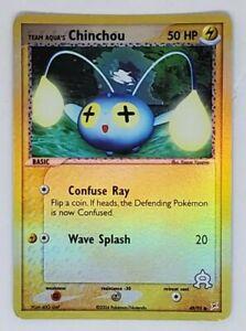 Chinchou 49/95 EX Team Aqua Holo Pokemon Card 2004